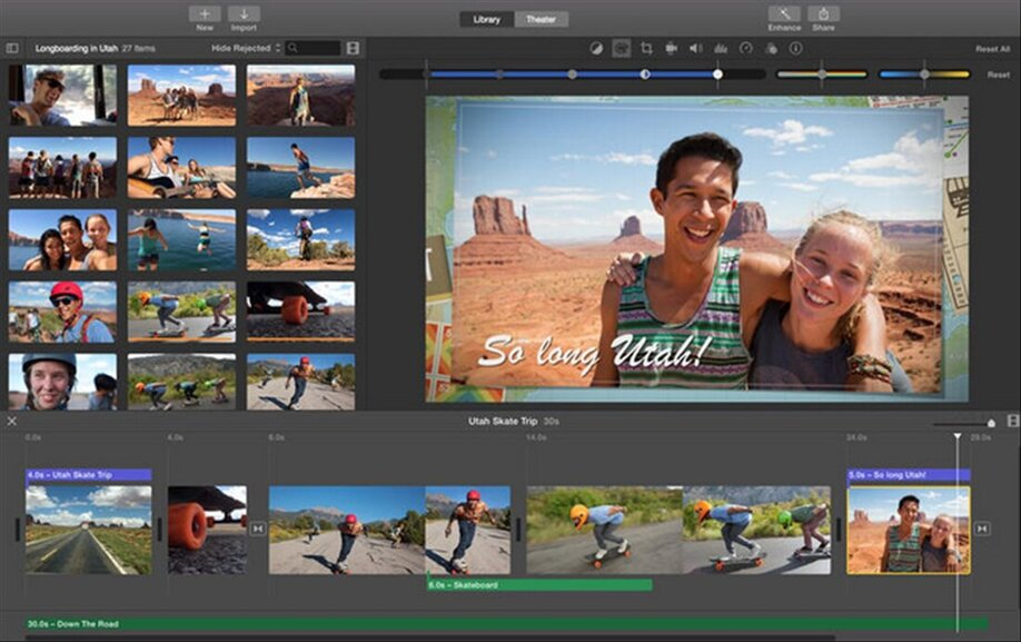 iMovie crear vídeo